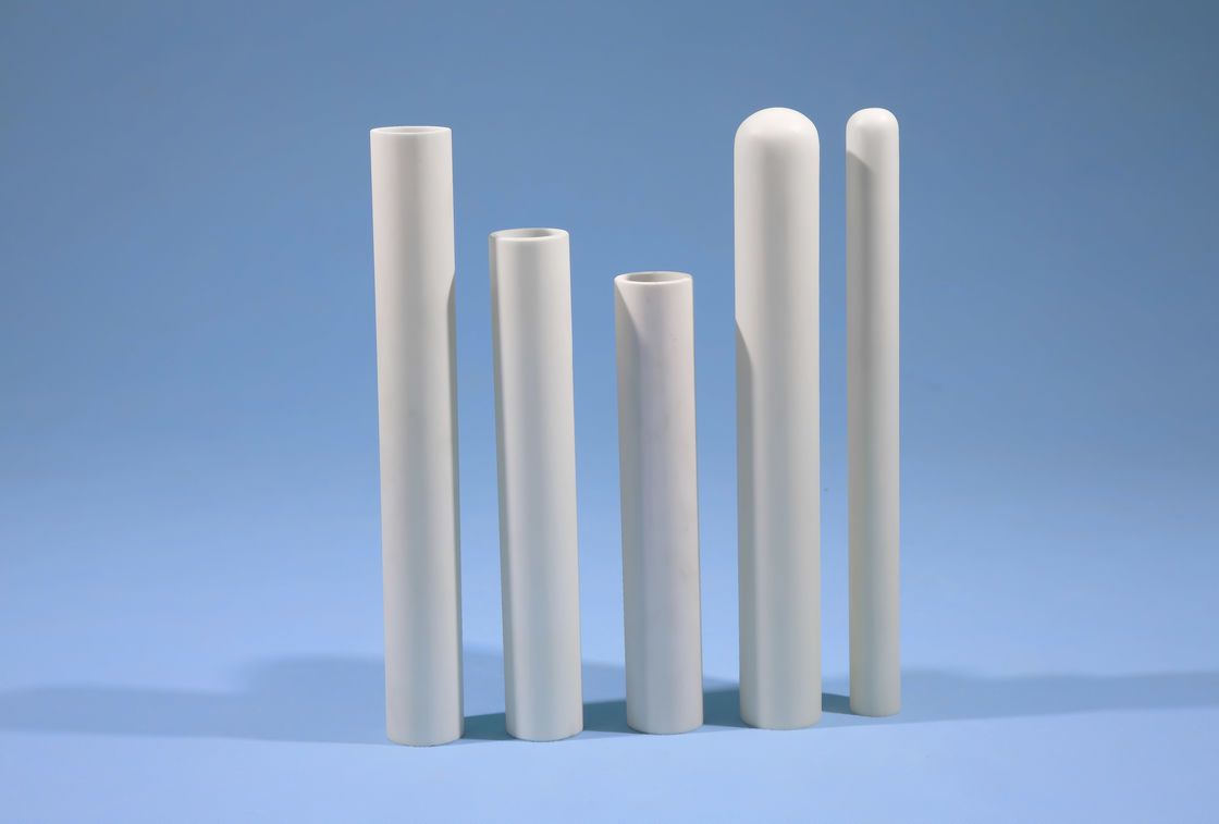 Wear Resistant Silicon Nitride Ceramic Thermocouple Protection Tubes High Density